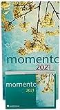 BRUNNEN 1070300021 Tages-Abreißkalender Konstanzer Kalender momento, 1 Seite = 1 Tag, 150 x 110 mm, Kalendarium 2021