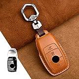 LYAKK 1Pcs Echtes Leder Auto-Fernschlüssel-Abdeckungs-Fall, für Mercedes-Benz W177 W205 W213 W222 2018 ACS GLS Klasse E-Klasse