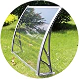 WXQIANG Markise Regen Tür Canopy Außenterrasse Sonnenschutz Regenschutz Smash Resistant Anti-UV-Kunststoff-Rack-Anti-Aging leicht zu reinigen (Color : Clear, Size : 80X80CM)