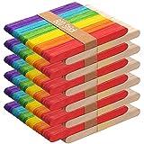600 Stuck 12.5cm Eisstiele Holz Wooden Sticks,Eisstiele aus Holz,Holzstäbchen Holzspatel Stiel Holz Eisstäbchen Holz zum Basteln