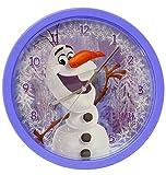 alles-meine.de GmbH Wanduhr -  Disney die Eiskönigin - Frozen / Schneemann Olaf  - 25 cm groß - sehr leise ! - Uhr - Analog - Wohnzimmer & Kinderzimmer - für Jungen M