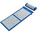 Akupressurmatte 4Fizjo Nadelmatte Set Massagematte + Kissen 130 x 50 cm (Blau #E06630)