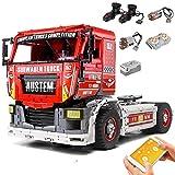 KEAYO Technik Ferngesteuert LKW, Mould King 13152, Groß Renn-Truck Modell mit Fernbedienung und Motors, 2638 Teile Klemmbausteine Bauset Kompatibel mit Lego Technik