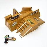 Apollo Fingerboard Rampen Set San Diego inkl. 3 Komplett-Boards und Mini-Rampe für Skate-Tricks