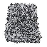 WANSHIDA QiQi Shop 1 stück Maximum Mitt hohe Dichte Auto Waw Tuch Ultra Super Absorbant Auto Schwamm Plüschhandschuh Mikrofaser Reinigungstuch (Color : Black(type2))