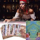 A Yogic Path Oracle Deck, universelle altmodische Wildheit Future Game Card Sets Destiny Prediction Card Sets für Family Friends Party