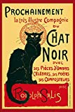 1art1 Theophile Alexandre Steinlen - Chat Noir, Schwarze Katze Poster 91 x 61 cm