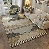 ZAZN 3D Geometrischer Druck Teppich Wohnzimmer Schlafzimmer Nordischen Stil Muster Bodenmatte Flur Teppich rutschfest Verschleißfest Abwaschbar