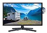 Reflexion LDDW22N Wide-Screen LED-Fernseher (22 Zoll) für Wohnmobile mit DVB-T2 HD, DVD-Player, Triple-Tuner und 12 Volt KFZ-Adapter (12 V/24 V, Full HD, HDMI, USB, EPG, CI+, DVB-T Antenne), Schwarz