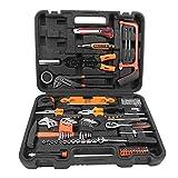 170 Stück Werkzeugkoffer, Werkzeugtrolley Handwerkzeugset Trolley Box mit Schraubenschlüssel Hardware Reparatur Schraubendreher Kit für Installation und Wartung 16,3 x 14,5 x 42 cm