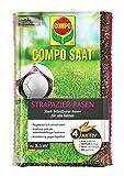 Compo SAAT Strapazier-Rasen, Spezielle Rasensaat-Mischung mit wirkaktivem Keimbeschleuniger, 175 g, 8,5 m²
