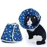 ZUOLUO Halskrause Hund Schutzkragen Medizinische Halsbänder für Hunde Katzenschutzhalsband Elisabethanisches Halsband für Hunde M