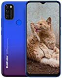 Blackview A70 Smartphone ohne Vertrag Günstig, 6,5 Zoll HD+ Display 5380mAh Akku, 13MP+5MP Dual Kamera, 3GB + 32GB ROM, Android 11 Dual SIM Android Einsteiger Handy - Blau