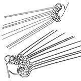 Rouladennadeln - 20er Set, Edelstahl - Made in Germany 10 cm Rouladenspieße mit Clip – rostfrei, stabil für einfach leckere Rouladen