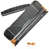 com-four® Papierschneidegerät - Schneidemaschine für Papier und Fotos, Leichter und kompakter Rollenschneider, einfach zu bedienen, mit Fingerschutz