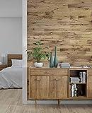 wodewa Wandverkleidung Holz 3D Optik Eiche Rustikal 1m² Wandpaneele Moderne Wanddekoration Holzverkleidung Holzwand Wohnzimmer Küche Schlafzimmer geölt
