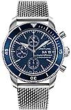 Breitling Superocean Heritage II Chronograph 44 blaues Zifferblatt Herren-Armbanduhr A13313161C1A1
