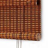 NBSY Bambusrollo Rollos |Sonnenschutz, wasserdicht, atmungsaktiv,Verdunkelungsrollo-Rollläden, für Schlafzimmer, Wohnzimmer, Badezimmer, das Büro,Multi-Größe