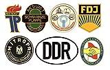 24/7stickers #692 / DDR Aufkleber Set 1 Höhe je 6,5cm VEB Oldtimer Retro Vintage FDJ JP Mitropa Osten für Trabant Barkas Wartburg Simson usw