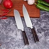Küchenmesser 5-teiliges Küchenmesser professionelles Kochmesser 7CR17 hohe Carbon-Edelstahl Dreikopf-Schälmesser-Set (Color : 2pcs Each Set)