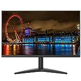 YILANJUN Display (27 Zoll/Full HD) Business Gaming-Monitor (Anzeige/Überwachung, 100 * 100 mm Wandloch, 1080P, 75 Hz, HDMI + VGA-Schnittstelle, Mattschwarz)