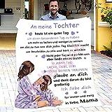 Briefdecke Kuscheldecke, Personalisierte Luftpost Nachricht Kinder Flanell Couchdecke, An Meine Tochter Superweiche Decke Mikrofaser Quilts Flanelldecke Wohndecke Sofadecke Blanket 150x200cm