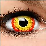 Farbige Maxi Sclera Kontaktlinsen Horror Clown - inkl. Behälter - Top Linsenfinder Markenqualität, 1Paar (2 Stück)