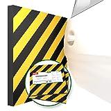 ATHLON TOOLS 2x XXL Garagen-Wandschutz reflektierend - je 50 x 50 cm -Selbstklebend -Rammschutz Prallschutz Garagenpolster Türkantenschutz (gelb/schwarz)