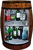 weeco Bar Schränk LED. Weinregal Weinschrank XL. Fass Vintage deko Wohnzimmer. Minibar Gin Whisky Bier. Weinfass Stehtisch. Holzfass für Gläser und Flaschen. Wine Rack geschenkset. Bartisch mit Holz