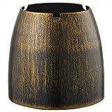 ecooe Windaschenbecher Edelstahl Groß/Aschenbecher Winddicht für Draußen & Innen/Tischaschenbecher mit Rutschfestem Basis Farbe Bronze