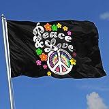 Zudrold Outdoor-Flaggen Frieden und Liebe Krawatte Farbstoff Friedenszeichen Flagge für Sport Fan Fußball Basketball Baseball Hockey