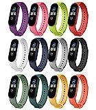 MoKo 12 Stück Armband Kompatibel mit Xiaomi Mi Band 6/Mi Band 5, Verstellbares Weiches Silikon Sport Ersatzarmband Uhrenarmband Wrist Strap, 12 Farben