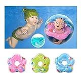 Baby Schwimmring,Aufblasbar Baby Schwimmkragen,Schwimmhilfe Ring,Schwimmsitz für Kinder ab 6 bis 30 Monate (Blue, S)