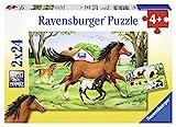 Ravensburger Kinderpuzzle 08882 - Welt der Pferde - 2 x 24 Teile