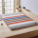 KKCD Klappmatratze, Japanische Bodenmatratze, Gesteppte Tatami-Futon-Matratze, Tragbare Schlafsaalmatratze, Weiche Tatami-Bodenmatten-Schlafmatte, Faltbares Bodenliegebett,B,100x200cm(39 * 79inch)
