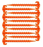 Duyifan Zeltnägel Orang 10 Stück / 20 cm Schraube Spirale Zelt Peg Nagel, Zeltnagel Zeltheringe, Kunststoff Outdoor Camping Trip Zelt Peg Sandheringe Schraube Nagel Zeltheringe