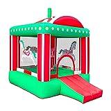 FGVDJ Kleiner Zirkus Aufblasbare Bouny Castle Hüpfburg Hüpfpark für Kinder Indoor-Hinterhof-Spiel Lustiges Party-Spielplatz-Trampolin mit Pflöcken, Reparaturflicken und Aufbewahrung