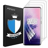 Alinsea [3 Stück] für Oneplus 7 Pro/Oneplus 7T Pro Schutzfolie, Fingerabdruck-ID unterstützen, Hüllefreundlich, [kein Glas] vollständige Abdeckung Klar HD Weich TPU Displayschutz Display