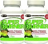 Super Burner Fatburner Leistungsstarke 2 BOX x 120 Tabletten, Stark Reduzierend, Schnell für Bauch, Oberschenkel, Gesäß, Thermogenen Fatburner , um Gewicht und Appetit zu Verlieren