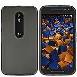 mumbi Hülle kompatibel mit Motorola Moto G3 Handy Case Handyhülle, transparent schwarz