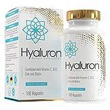 Hyaluronsäure Kapseln 800 mg   500-700 kDa   Hochdosiert   Vegan   100 Kapseln   angereichert mit Biotin, Zink, Vitamin C und B12   MVN®