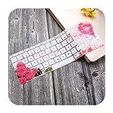 Silikon-Schutzhülle für MacBook Pro 33 cm (13 Zoll) A1708 (No Touch Bar) für Mac Book Pro 13,3 A 1708-Flower