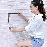 3D PE Foam Wandtapete Steinoptik Selbstklebend Soft Anti-Collision Wandpaneele Ziegelstein Steinoptik Wanddeko für Badezimmer Balkon Küchen (70x77cm)30 Stück