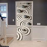 Door Sticker 3D Türaufkleber Strand Steindekoration