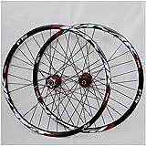 ZPPZYE MTB Downhill Wheelset 26/27.5 / 29ER Doppelwandig Aluminiumlegierung Fahrradfelge Hybrid/Berg für 7/8/9/10/11 Speed (Farbe : Rot, Size : 26 inch)