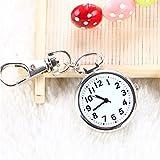 CHENFUI Unisex Neuheit Gürtel Schlüsselanhänger Uhr Big Dial Krankenschwesternuhr Arzt Taschenuhr Medizinuhr, Schwarz, 6X3X1.2cm
