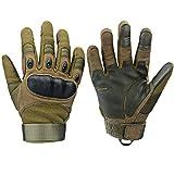 Xnuoyo Gloves Gummi Hart Vollfinger und Halbe Fingerhandschuhe Schutzhandschuhe Touchscreen Handschuhe für Motorrad Radfahren Jagd Klettern Camping (XL, Armeegrün)