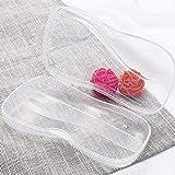 BIlinl Portable Transparente Kunststoff Geschirr Fall Löffel Gabel Aufbewahrungsbox Besteck Organizer Reise