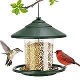 XIAOHUAHUA Außerhalb Vogelhäuschen, Wasserdicht Hängenden Wildvogelhäuschen, 2 Lbs Samenfutterautomat Mit S-Haken, Hängend Für Gartenhof Außendek