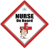 Nurse An Bord, Nurse An Bord Autoschild, Krankenschwester-zeichen, Pflege-zeichen, Baby on Board Zeichen, Baby A, Nurse Auto Schild, RGN, Pflege-Zeichen, Medizinisches Zeichen